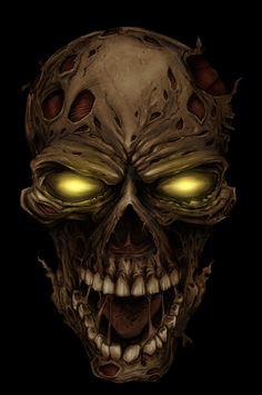 Zombie Skull by Flyland Designs - Evil lurks in the hearts of man...