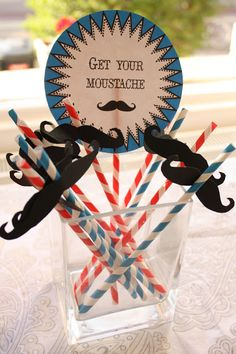 Moustache Party Straws. Ideas. Inspiration. Etrala Menswear Presentation Party. Download the printable artwork on the blog.