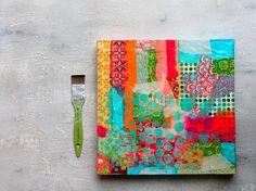 Enkaustik Schellack Papier Strukturbild abstrakte malerei