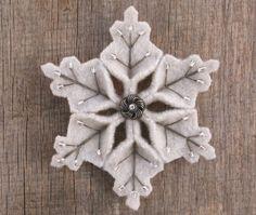 felt snowflakes - Google Search