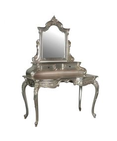 CH Furniture Tiffany Dressing Table W/Mirror is an extensive range of antique style lustrous silver painted living, dining and bed room furniture. CH Furniture Tiffany Dressing Table W/Mirror Silver Furniture, Mirrored Furniture, Retro Furniture, Shabby Chic Furniture, Bedroom Furniture, Furniture Usa, Farmhouse Furniture, Furniture Stores, Bedroom Table