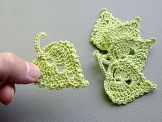 Crochet Flower: How to Crochet a Leaf #crochetflowers