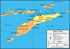 east timor | East Timor Map - East Timor Satellite Image - Physical - Political