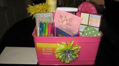 Graduation gift idea--fill a useable bucket with a few school supplies
