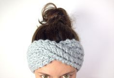 Tutorial DIY how to make a twisted headband loom knitting