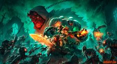 Battle Chasers Nightwar key art 2 wallpaper variants (CoverB)