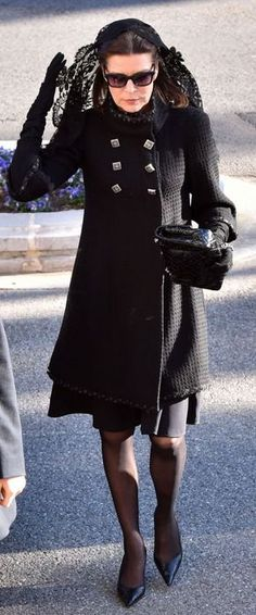 Princess Caroline wearing a Chanel coat