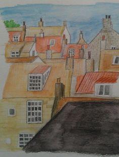 Sketching in robin hood's bay
