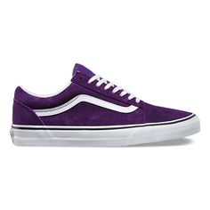 Looking to buy a brand new pair of Vans Old Skool? Check out the best Vans Old Skool colorways available to shop now. Purple Vans, Purple Shoes, Lace Up Shoes, Purple Sneakers, Vans Sneakers, Leather Sneakers, Vans Shoes, Converse, Shoes Sport