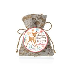 Baby Deer First Birthday Favor Tag - Gift Tag, Hang Tags, Thank You Tags, woodland deer theme by crazyfoxpaper on Etsy https://www.etsy.com/listing/262104198/baby-deer-first-birthday-favor-tag-gift