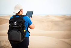 I went walking through the dunes of Maspalomas, a special place. A sea of ??golden sand at the foot of the Atlantic Ocean. Nature reserve where I like to walk always well stocked with my backpack Peli model: special protected S145 to bring my tablet and everything I need. Wherever I go, I go happy with my Peli.  Picture by Silvia Bernal Valido - Spain