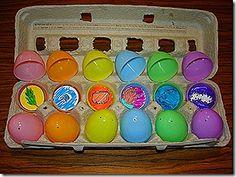 Make your own  Resurrection eggs from Christian Preschool Printables