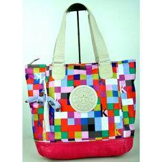 Brand New Authentic Kipling Shopper Combo Shoulder Bag Color: Squared Print Pink Php 3,900