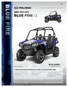 2014 Polaris RZR 800 EPS in Blue Fire. #WoodsCycleCountry