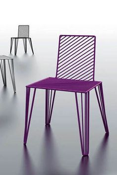 Moare Chairs Made Of Bent Steel Bars by Lucie Koldova