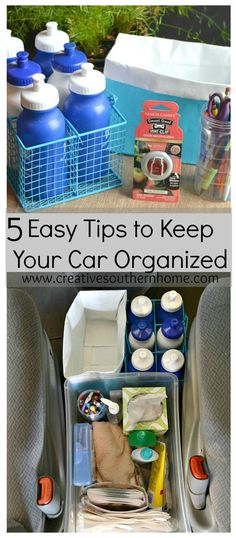 LOVE Tip #4! These tips REALLY work!  5 easy tips to keep your car Organized!  www.creativesouthernhome.com [ad] #LoveAmericanHome