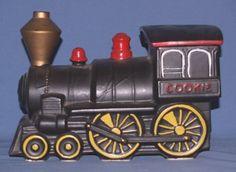 MCCOY CHOO CHOO TRAIN COOKIE JAR CA. 1930-40'S