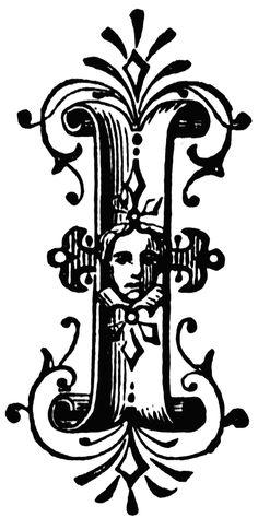 I, Ornamental letter | ClipArt ETC