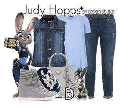 Judy Hopps + by leslieakay on Polyvore featuring polyvore fashion style aprico Forever New The Rubz clothing disney disneybound plussize