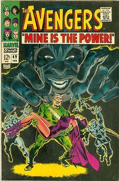 SILVER AGE 1968 AVENGERS #49 MARVEL COMICS MAGNETO APPEARANCE / STEVE BUSCEMA ARTWORK!!