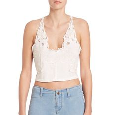 Pin for Later: Chrissy Teigen Cooks Mother's Day Brunch in All Your Spring Must Haves  Free People Santa Cruz Embroidered Cropped Top ($98)