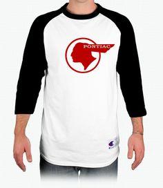 Pontiac Tin Indian Champion Tagless Raglan Baseball T-Shirt