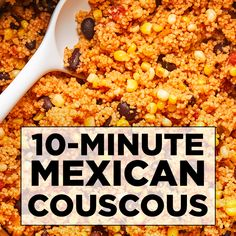 This satisfying Mexican couscous recipe is perfect as a main course or a zesty side dish. This satisfying Mexican couscous recipe is perfect as a main course or a zesty side dish. Healthy Side Dishes, Healthy Sides, Veggie Dishes, Healthy Recipes, Mexican Food Recipes, Vegetarian Recipes, Salad Recipes For Dinner, Dinner Salads, Vegan Couscous Recipes