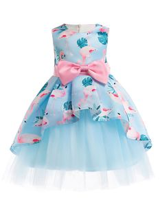 Flower Girl Dresses Aqua Floral Print Bows Sleeveless A Line Kids Tutu Party Dress Girls Party Dress, Toddler Girl Dresses, Girls Dresses, Flower Girl Dresses, Dress Girl, Party Dresses, Flower Girls, Dress Party, Robes Tutu