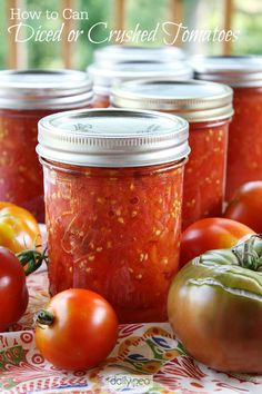These homemade diced or crushed tomatoes are extra-wonderful in chili, soups, pasta dishes, and pretty much any recipe that calls for them, ...