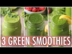 3 Healthy Green Smoothies Healthy Breakfast Ideas Click the image for more info. Green Detox Smoothie, Healthy Green Smoothies, Healthy Breakfast Smoothies, Health Breakfast, Easy Healthy Breakfast, Healthy Eating, Breakfast Ideas, Smoothie Cleanse, Healthy Drinks