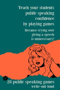 Laugh and learn. Gain public speaking skills and confidence through playing games. Suitable for middle school and upwards. Public Speaking Activities, Speaking Games, Middle School Ela, Activity Games, Learn English, Esl, Games To Play, Gain, Confidence
