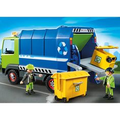 Playmobil 6110 : City Action : Camion de recyclage ordures - Playmobil-6110
