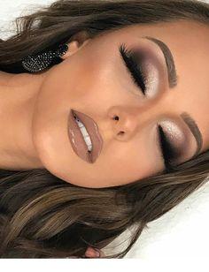 Nudelicious glossy and big eyelashes! Nudelicious glossy and big eyelashes! The post Nudelicious glossy and big eyelashes! & Beauty appeared first on Glossy makeup . Nude Makeup, Prom Makeup, Eyeshadow Makeup, Hair Makeup, Pageant Makeup, Airbrush Makeup, Brown Lipstick Makeup, Vegas Makeup, Burgundy Makeup