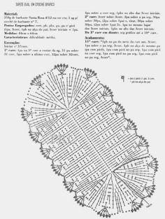 Helen's artes em Crochê: Grafico Tapete Oval