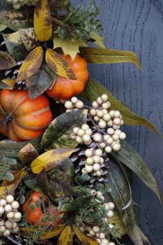 Details of Autumn Abundance Foliage