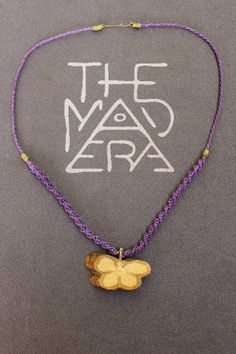 Ayahuasca butterfly necklace, ayahuasca pendant, blue, purple