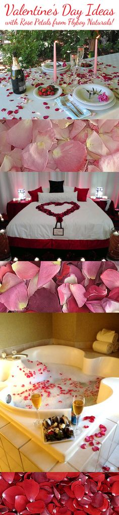 Perfect for Valentine's Day...Romantic Ideas with real freeze dried rose petals from Flyboy Naturals...all natural, eco-friendly...over 100 colors to ch…