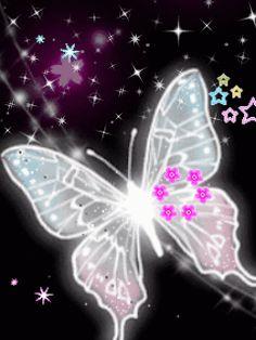 Crystal Butterfly photo by Cute_Stuff Butterfly Kisses, Butterfly Flowers, Beautiful Butterflies, Butterfly Sayings, Art Papillon, Phone Screen Wallpaper, Bling Wallpaper, Cellphone Wallpaper, Fractal