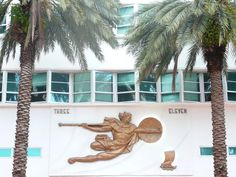 Art deco architecture detail, South Beach, Miami, Florida