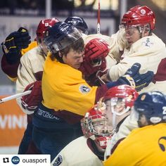 #Repost @ouasport  This is what a 131-year-old rivalry looks like. No. 7 @queensgaels and @rmcrecim meet Thursday night in the Carr-Harris Challenge Cup! #OUA