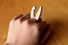 This floppy-eared ring. | 24 Wooden Accessories To Bring You Closer To Nature