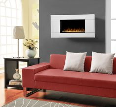 Dimplex - Reflections Wall Mount Electric Fireplace with Mirrored Frame - - Home Depot Canada Slate Fireplace, Fireplace Update, Fireplace Shelves, Fireplace Mirror, Fireplace Design, Wall Fireplaces, Fireplace Screens, Dimplex Electric Fireplace, Wall Mount Electric Fireplace