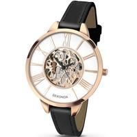 Buy Sekonda Ladies Gold Plated Skeleton Dial Black Strap Watch 2314 £39.99 from Women's Watches range at #LaBijouxBoutique.co.uk Marketplace. Fast & Secure Delivery from The Jewel Hut online store.