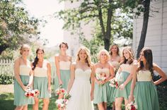 LOVE these bridesmaids dresses!!! Alfred Angelo has something similar