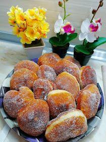 ΜΑΓΕΙΡΙΚΗ ΚΑΙ ΣΥΝΤΑΓΕΣ: Λουκουμάδες εξαιρετικοί !!!! Baked Doughnuts, Brunch, Sweetest Day, Greek Recipes, Food Processor Recipes, Muffin, Food And Drink, Peach, Tasty