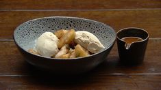 Cinnamon coated roti with cinnamon ice cream and cinnamon caramel sauce. Masterchef Recipes, Cinnamon Ice Cream, Caramelised Apples, Masterchef Australia, Salted Butter, Serving Plates, Sweet Recipes, Baking, Master Chef