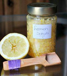 DIY lemon scrub. Makes your body so soft! Smells soooo good<- added plus