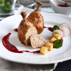 Рецепт - Фаршированные куриные голени