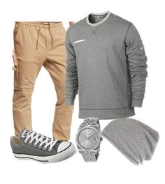 """Jayden's outfit #3"" by lit-mz-hooper on Polyvore featuring Ring of Fire, Converse, Rolex, River Island, mens, men, men's wear, mens wear, male and mens clothing Women, Men and Kids Outfit Ideas on our website at 7ootd.com #ootd #7ootd"