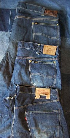 1960s Lee Riders and Levi 505 Big E jeans